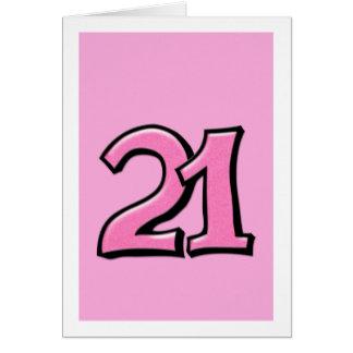 Alberne rosa Karte der Nr.-21