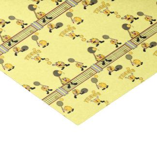 Alberne Tennis-Spieler-Bälle Seidenpapier