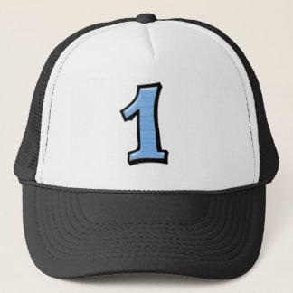 Alberne Zahlen 1 blauer Hut Truckerkappe