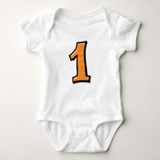 Alberne Zahlen 1 orange Säuglings-T - Shirt