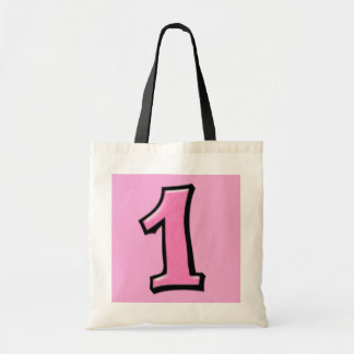 Alberne Zahlen 1 rosa Tasche