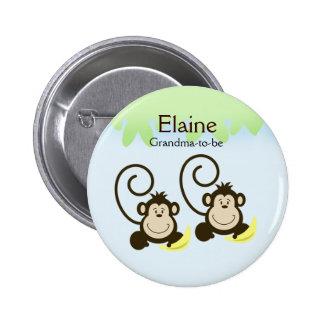 ALBERNER AFFE-NAMENSumbau personalisierter Knopf Runder Button 5,7 Cm