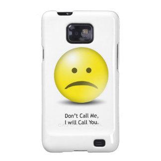 """Alberner Emoticon """"rufen mich nicht """" an Galaxy SII Case"""