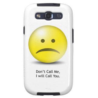 """Alberner Emoticon """"rufen mich nicht """" an Galaxy S3 Etuis"""