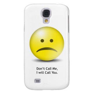 """Alberner Emoticon """"rufen mich nicht """" an Galaxy S4 Hülle"""