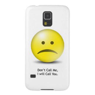 """Alberner Emoticon """"rufen mich nicht """" an Samsung Galaxy S5 Cover"""