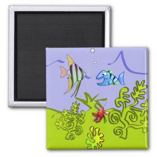 Alberner Fisch-Tür-Markierungs-Magnet Quadratischer Magnet