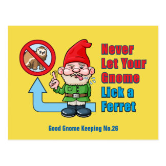 Alberner Gnome und Frettchen Postkarte