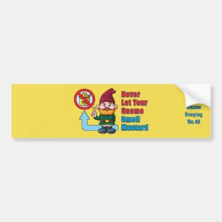 Alberner Gnome und Senf Autoaufkleber
