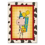 Alberner reimender Geburtstags-Kuh-Western Grußkarte