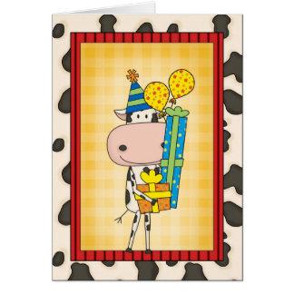 Alberner reimender Geburtstags-Kuh-Western Karte