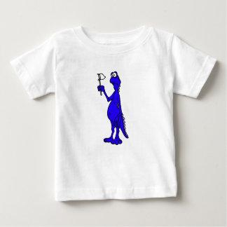 Alberner zahnlos Drache mit weißer Flagge Baby T-shirt