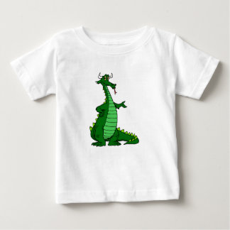 Albernes Drache-Grün Baby T-shirt