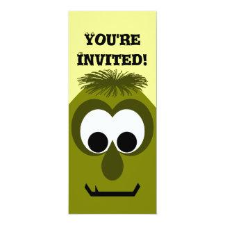 Albernes kleines dunkles gelbes Monster 10,2 X 23,5 Cm Einladungskarte