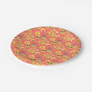Albernes rotes Emoji Muster Pappteller