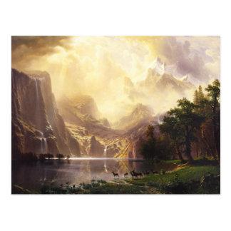Albert Bierstadt in der Gebirgsgruß-Karte Postkarte