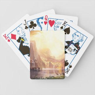 Albert Bierstadt unter der Sierra Nevada Bicycle Spielkarten