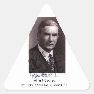 Albert Coates Dreieckiger Aufkleber