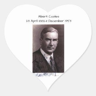 Albert Coates Herz-Aufkleber