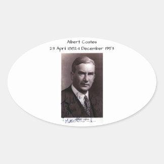 Albert Coates Ovaler Aufkleber