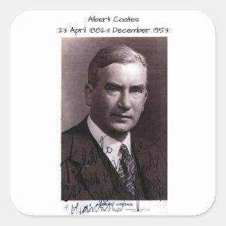 Albert Coates Quadratischer Aufkleber