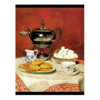 Albert Samuel Anker ~ Tee-Zeit Postkarte