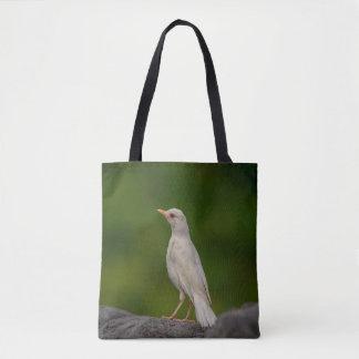 Albino Robin im Kronen-Punkt Tasche
