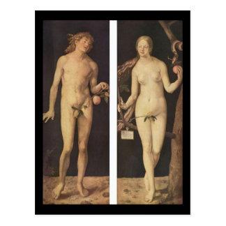Albrecht Durer Adam und Eve Postkarte