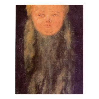 Albrecht Durer - Kopf eines bärtigen Kindes Postkarte