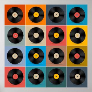 Album, Vinylaufzeichnung, Musik-Plakat Poster