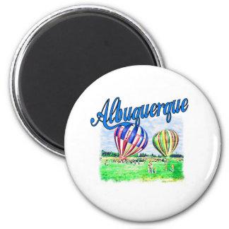 Albuquerque-Ballone Runder Magnet 5,1 Cm