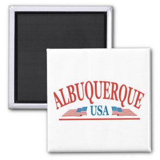 Albuquerque-New Mexiko Quadratischer Magnet