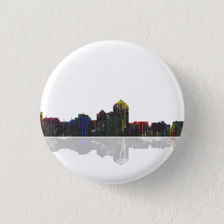 Albuquerque, New Mexiko-Skyline Runder Button 3,2 Cm