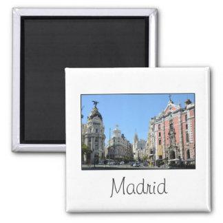 Alcala und Gran über, Madrid-Magnet Quadratischer Magnet