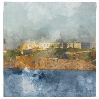 Alcatraz Insel in San Francisco Kalifornien Serviette