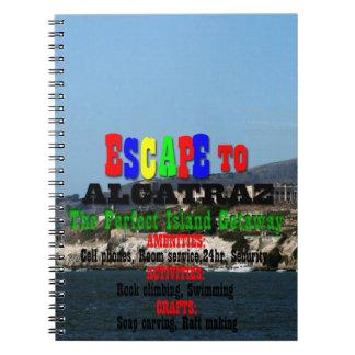 Alcatraz Spiral Notizblock