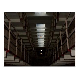 Alcatraz Zellen-Block - oberes Niveau Postkarte