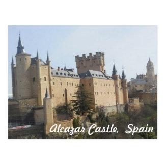 Alcazar-Schloss von Segovia Postkarte
