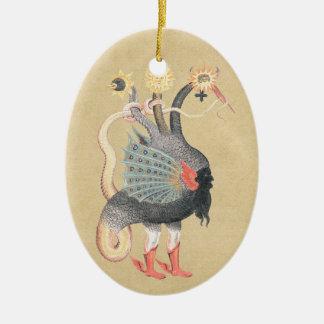 Alchimie-Pythonschlange-Farbe Keramik Ornament