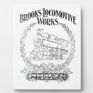 Alco - Bach-Lokomotive bearbeitet Logo-Plakette Fotoplatte