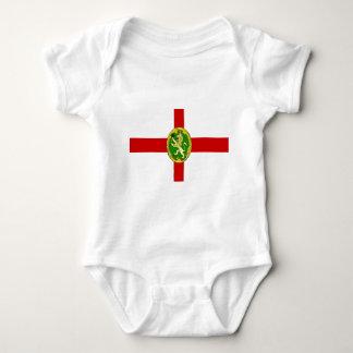 Alderney Flagge Baby Strampler