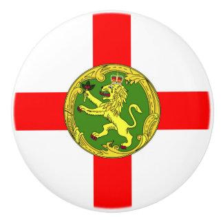 Alderney Flagge Guernsey-Symbol Briten Keramikknauf