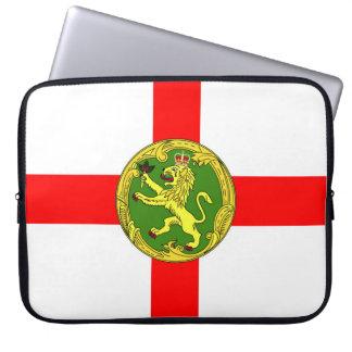 Alderney Flagge Guernsey-Symbol Briten Laptop Sleeve