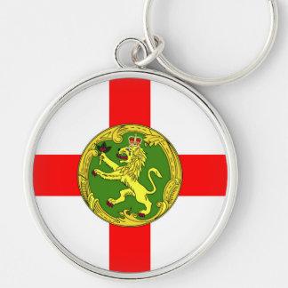 Alderney Flagge Guernsey-Symbol Briten Schlüsselanhänger