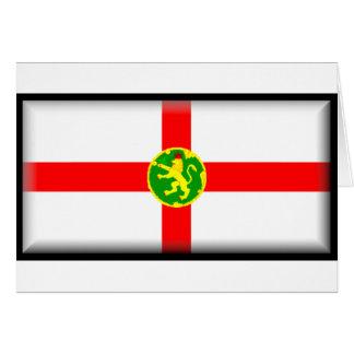 Alderney Flagge Karte