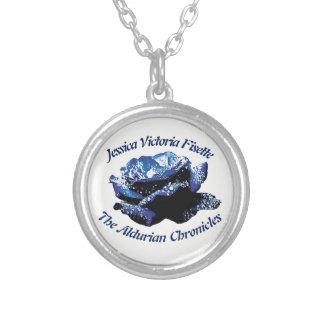 Aldurian Rosen-Halskette Versilberte Kette