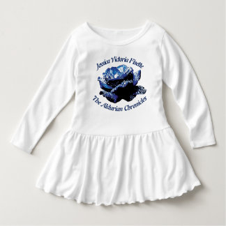 Aldurian Rosen-Kleinkind-Rüsche-Kleid Kleid