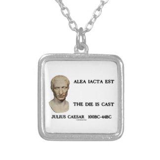 Alea Iacta Est Die ist geworfener Caesar Halskette Mit Quadratischem Anhänger