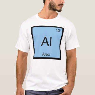 Alec Namenschemie-Element-Periodensystem T-Shirt