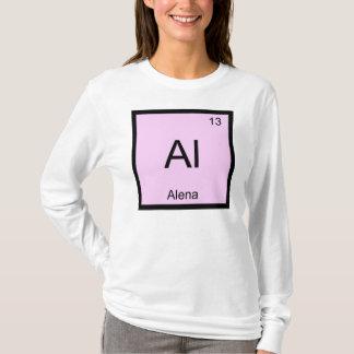 Alena Namenschemie-Element-Periodensystem T-Shirt